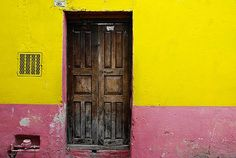 Rustic colorful door in the town of San Miguel de Allende, Mexico by Robert Crum, via Flickr