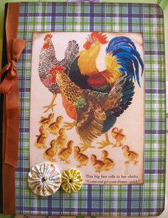Retro Chicken Chickens Composition Journal by TheBeehiveCottage