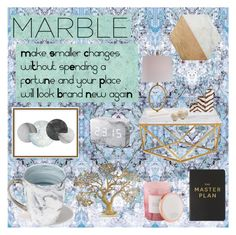"""Marble"" by amelie-frojd on Polyvore featuring interior, interiors, interior design, home, home decor, interior decorating, Timorous Beasties, Jordan Carlyle, Art Addiction and Eccolo"