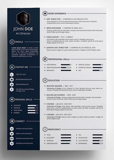 Modern CV Resume and Cover Letter LaTeX Template   Misc   Pinterest     Resume Format Creative