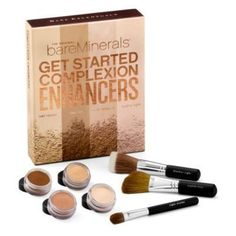 BareMinerals Get Started Complexion Enhancers by 6. $43.98. How-To DVD lets you follow along as Leslie Blodgett, CEO of Bare Escentuals, demonstrates how to achieve the next level of radiance. Pure Radiance All-Over Face Color enhances skin with the luminous peach luster of a baby. Faux Tan All-Over Face Color infuses even the fairest complexions with a radiant, sunlit glow in any season. Step-by-step brochure guides you through each technique. Illuminating Mineral Veil's l...