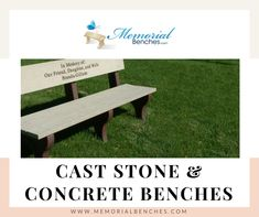 Shop for cast stone & concrete benches & recycle plastic engraved benches at  #memorialbenches #bench #green #sky #park #art #design #seating #usa #likeformore