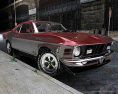 1970 Ford Mustang Mach 1 428 Super CobraJet 3D Model (.obj) by ...