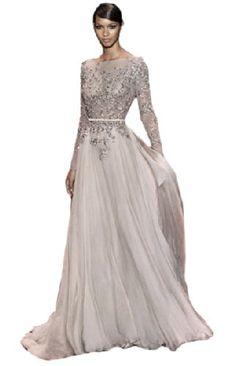 IBEAUTY DRESS Chiffon Lace Long Sleeve Trailing Prom Dress Gray WZ1950 IBEAUTY DRESS http://www.amazon.com/dp/B00JJD5OAU/ref=cm_sw_r_pi_dp_6jEPtb1A3BFVDZB5