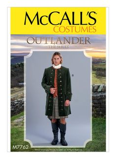 McCall's Pattern MWW Men's Coats Costume from Outlander the Series, Size Kilt Pattern, Coat Pattern Sewing, Mccalls Sewing Patterns, Coat Patterns, Clothing Patterns, Costume Patterns, Easy Sewing Projects, Sewing Hacks, Sewing Ideas