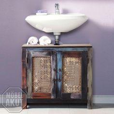 Bad Waschbeckenunterschrank Goa von Wolf Möbel in Massivholz Mango Vintage