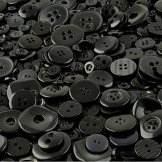 Black crafting buttons made from polyester for sale in an assortment of shapes, sizes and shades of black. Ideal for sewing projects, art work and crafting projects, buttons for sale in shades of black are very popular. Coraline Book, Coraline Aesthetic, Wholesale Buttons, Yellow Rain Jacket, What To Do When Bored, Buttons For Sale, Bipper, Over The Garden Wall, Color Stories