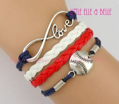 Infinity Charm Bracelet Infinity Wish Love by LittleElleBelle, $4.29