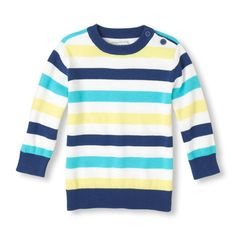 This comfy striped sweater is perfect for any occasion!
