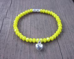 Simple Sunshine Yellow Bracelet Yellow by DiscoLemonadeDesigns, $24.99