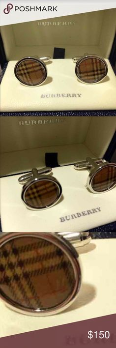 HP! 100% authentic Burberry cuff links Burberry cuff links. Worn once. In perfect condition! Burberry Accessories Cuff Links