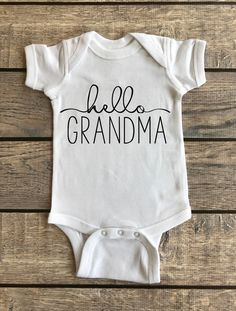 Hello Grandma | Baby Bodysuit,Hello Grandma | Baby Bodysuit, pregnancy reveal, pregnancy announcement, baby infant bodysuit, baby outfit, surprise we're expecting, grandparents reveal, gift for grandma, future grandma, baby announcement, hello grandma onesie, pregnancy reveal onesie, pregnancy announcement onesie, pregnant, pregnancy, oh baby, mommy to be, coming soon, guess what, does this shirt make me look pregnant