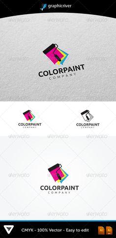 ColorPaint Logo #GraphicRiver Item Details: • Color CMYK • Fully editabl