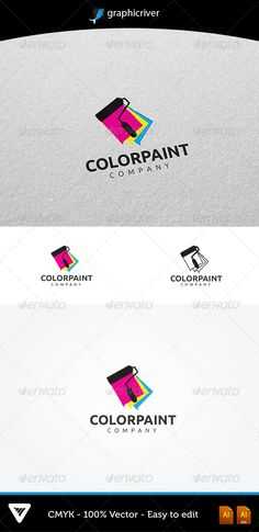 ColorPaint Logo #GraphicRiver Item Details: • Color CMYK • Fully editabl