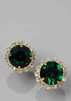 Love!! YOCHI DESIGNS Center Stone Crystal Earrings