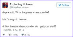 Exploding Unicorn Dad Tweets Daughter Convos : theBERRY
