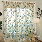 Modern Floral Voile Curtain Door Window Polyester Colors Curtain For Living Room