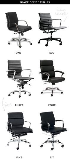 black office chairs. view more at kentwoodoffice.com