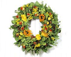 Dried Floral Wreath  #fallwreath #driedflowerwreath #wreaths