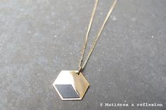Geometric @ www.matieresarefl... #Judith #Benita #Necklace #Grey #Jewels