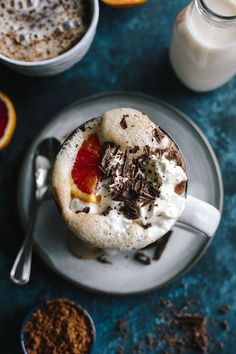 Blood Orange Hot Chocolate is a fun way to enjoy a classic recipe | http://thealmondeater.com