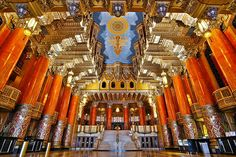 The Fabulous Fox Theater of Detroit, photo by SNWEB.ORG Photography Wikipedia's Fox Theatre (Detroit) entry says that Detroit's Fox is the largest of the 28 Theaters built by movie mogul and C. State Of Michigan, Detroit Michigan, Detroit Downtown, Detroit Art, Detroit Ruins, Metro Detroit, Amazing Architecture, Architecture Details, The Mitten State
