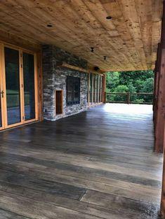Trendy Ideas For Backyard Porch Ideas Concrete Patios Wood Decks Concrete Patio Designs, Backyard Patio Designs, Concrete Deck, Stained Concrete Patios, Outdoor Concrete Stain, Backyard Ideas, Concrete Patio Extension Ideas, Colored Concrete Patio, Terrace Ideas