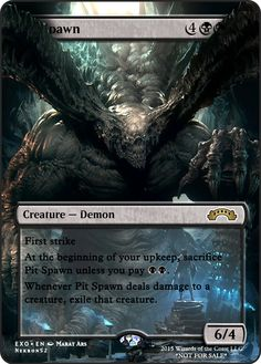Black Exodus Mtg Magic Rare 4x x4 4 PLAYED Pit Spawn