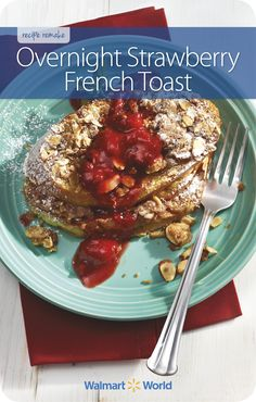 This decadent breakfast recipe for Overnight Strawberry French Toast should be prepared a day ahead and refrigerated until ready to bake. It's a beautiful Christmas morning treat, says Emma D. of Sam's Club 8256 in Knoxville, Tenn. #holidayfood