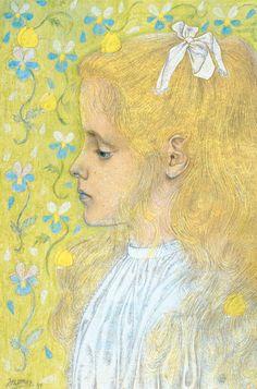 Portret van Charley Toorop Johannes Theodoor Jan Toorop (1858-1928)