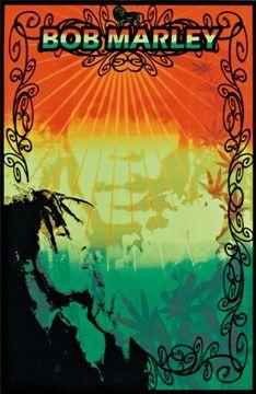 c9f417414a5d Bob Marley - Blacklight Poster. Concert RockReggae StyleRasta ...