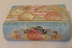 Punch Studio Rose 4oz Bar Of Soap In Seashell Beach Nautical Keepsake Book Box #PunchStudio