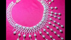 necklace with pendants from beads beading
