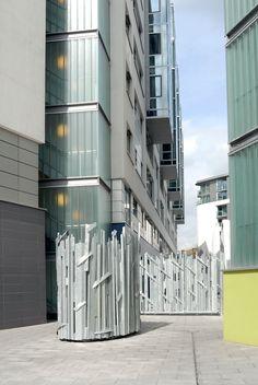 'Sculptural Vent Surround (Modern Steel Urban statue)' by Andrew Webb Abstract Sculpture, Sculpture Art, Sculptures, Statues For Sale, Steel Sculpture, Steel Metal, Public Art, Custom Art, Modern Contemporary