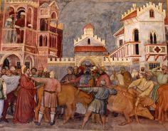 Saint Lucy dragged to the House of ill Repute, Altichiero da Zevio    #TuscanyAgriturismoGiratola