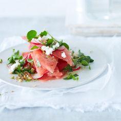 Rezept: Wassermelonen-Salat mit Feta Rezept - [LIVING AT HOME]