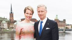 royalwatcher:  King Philippe and Queen Mathilde of Belgium on the visit to Stockholm, Sweden, April 29, 2014
