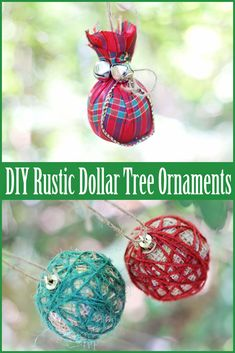 Diy dollar store ornament hammered metal so elegant great diy rustic dollar tree christmas ornaments solutioingenieria Images