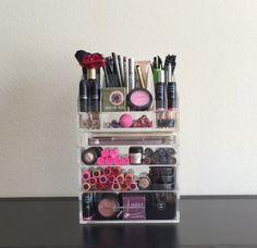 Acrylic Makeup Organizer Large 4 Drawer with Storage Modular Tray – The Makeup Organizer