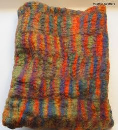 Felted wool pillow.