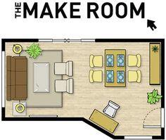 The Make Room | Img @ Urban Barn. http://www.urbanbarn.com/Room-Planner