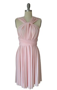 Blush Pink Floor Length Gown by AtomAttire on Etsy
