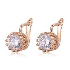 Rose Gold Crown Earrings