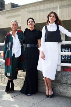 Lucinda Chambers, Amanda Harlech and Alexa Chung at the Vogue Festival 2014