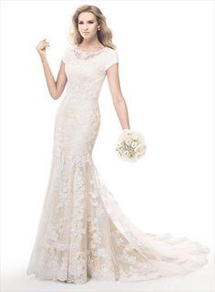 Beautiful Lace Modest Wedding Dress (Front)