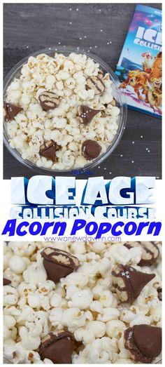 Ice Age Collision Course inspired popcorn recipe AD #CollisionCourse #ScratInSpace