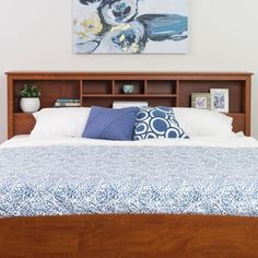 Shop for Chelsea Cherry King Bookcase Headboard. Get free delivery at Overstock.com - Your Online Furniture Shop! Get 5% in rewards with Club O! - 11127136