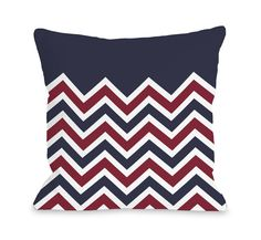 Chevron Solid American Polyester Throw Pillow