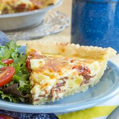 Bacon Cheddar Pineapple Quiche