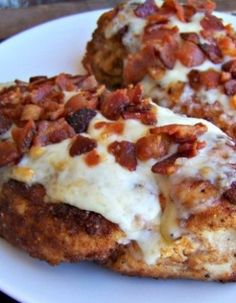 Parmesan Crusted Chicken With Bacon~ moist and delicious chicken breasts every time.